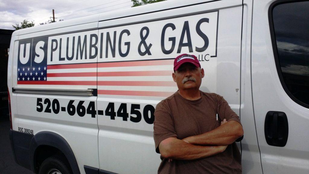 Howard Uriarte work truck owner of u s plumbing and gas llc 24 hour plumbing
