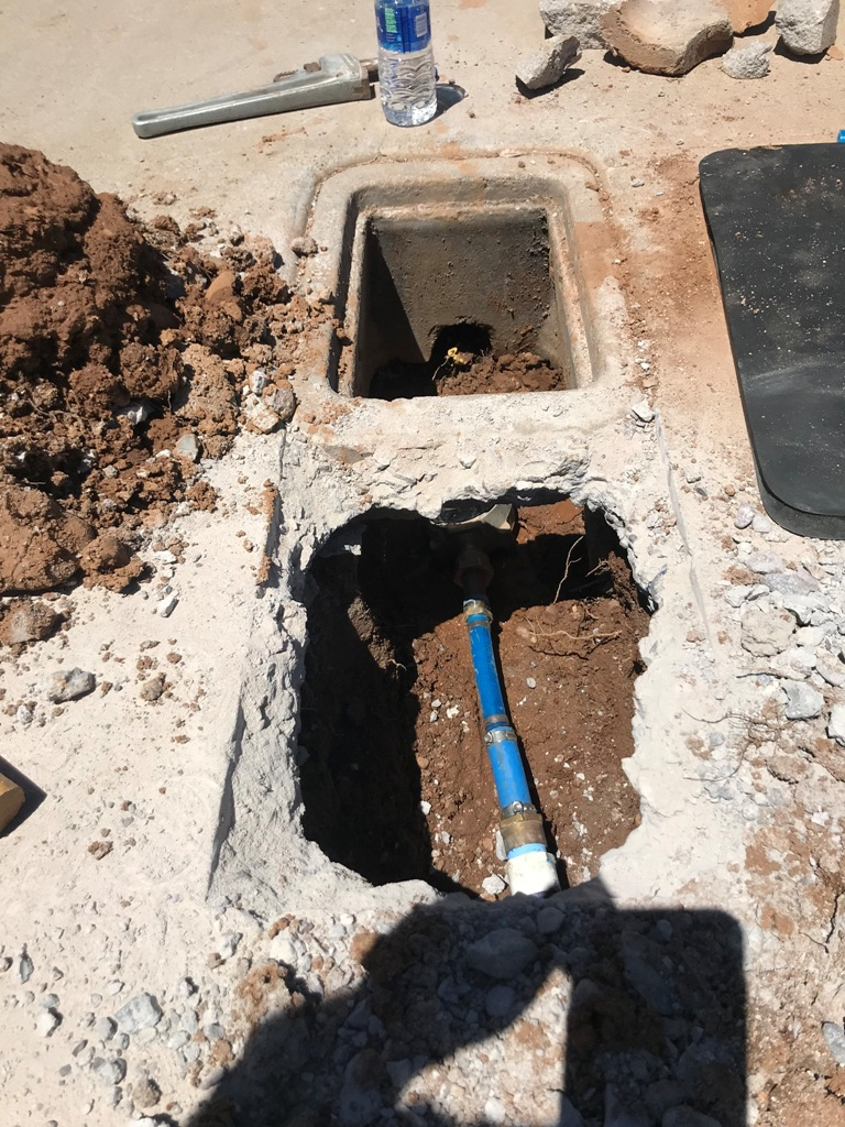 4 main water line repair rusted out